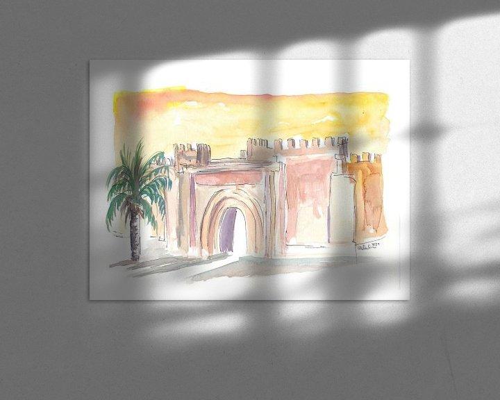 Sfeerimpressie: Taroudant Oude Stadspoort in Marokko van Markus Bleichner