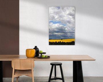 Paysage avec ciel nuageux sur Thomas Jäger