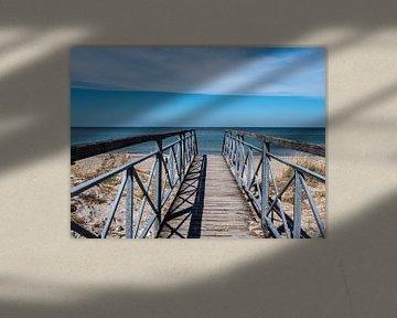 Brücke zum Strand an der Ostsee in Deutschland von Animaflora PicsStock