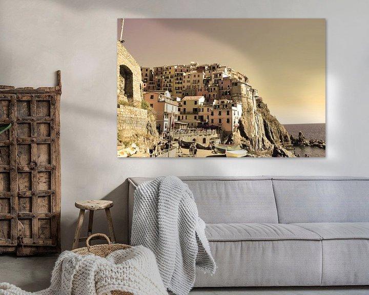 Sfeerimpressie: Cinque Terre Toscane Italië Oud van Hendrik-Jan Kornelis