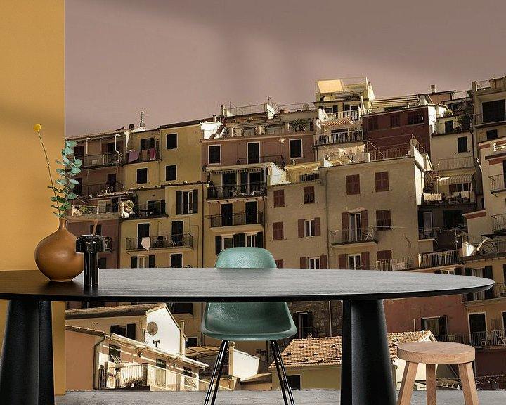 Sfeerimpressie behang: Cinque Terre Toscane Italië Oud van Hendrik-Jan Kornelis