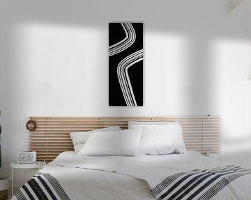 Modern Abstract - Schwarz und Weiß von Studio Malabar