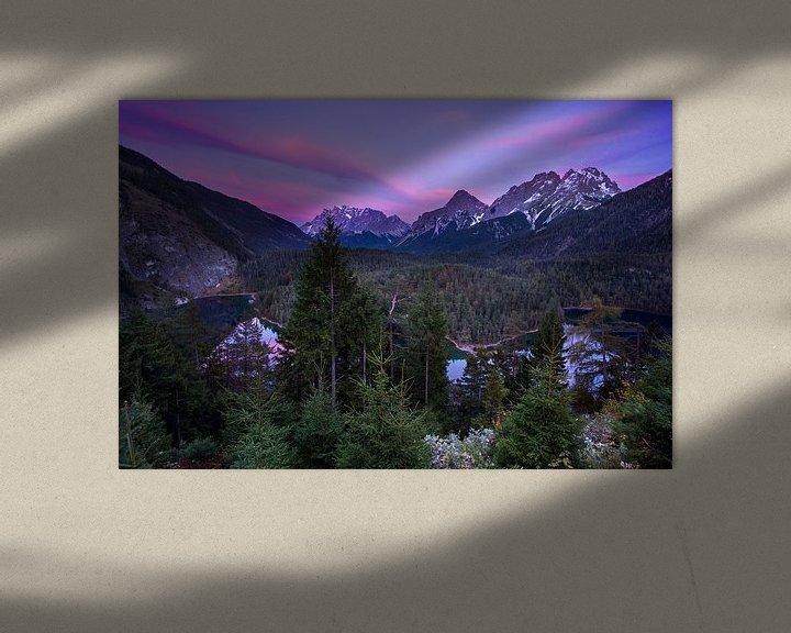 Sfeerimpressie: Zugspitze avondopname van Hans van den Beukel