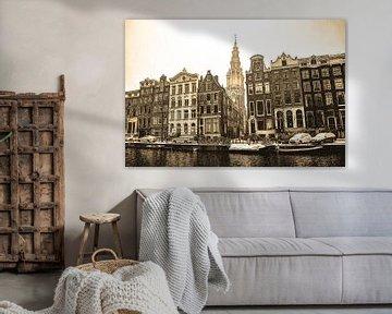 Zuiderkerk Amsterdam Sepia Winter von Hendrik-Jan Kornelis