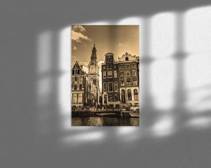 Sfeerimpressie: Zuiderkerk Amsterdam Nederland Sepia van Hendrik-Jan Kornelis