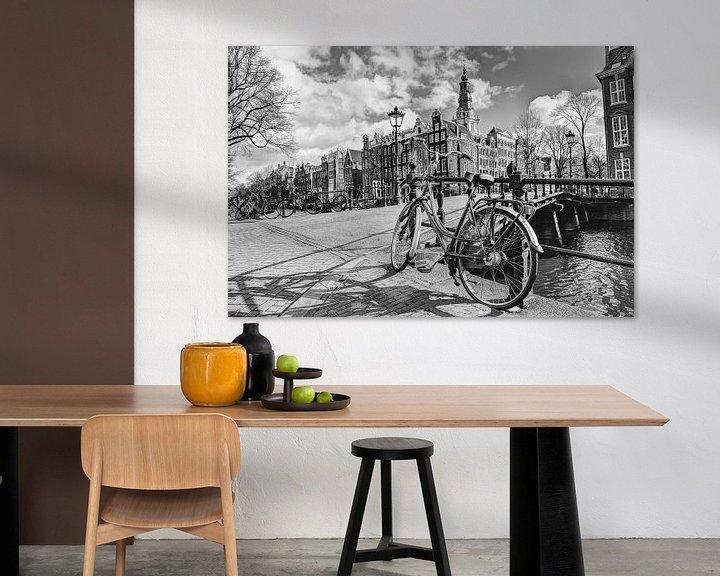 Sfeerimpressie: Zuiderkerk Amsterdam Nederland Zwart-Wit van Hendrik-Jan Kornelis