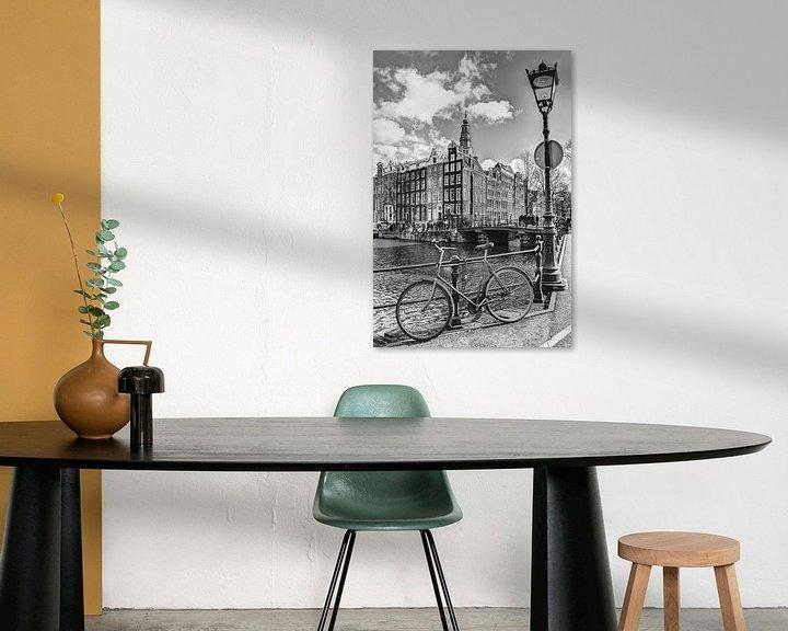 Sfeerimpressie: Zuiderkerk Amsterdam Kloveniersburgwal Winter Zwart-Wit van Hendrik-Jan Kornelis