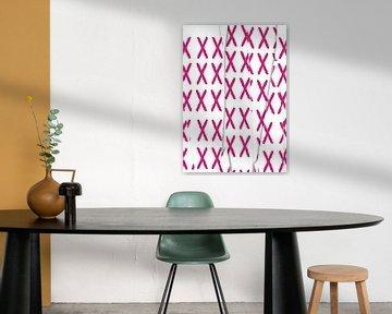 Pink X cut up von Roswitha Lorz