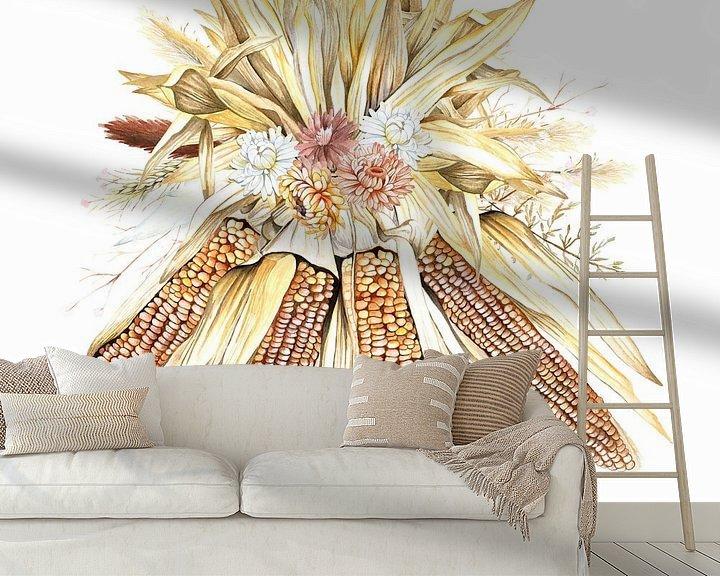 Beispiel fototapete: Getrocknete Blumen Mais von Geertje Burgers