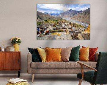 Dankhar, Spiti vallei, India van Jan Fritz