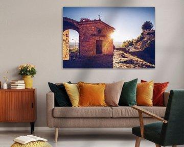 Volterra - Porta San Felice (Toscane) van Alexander Voss