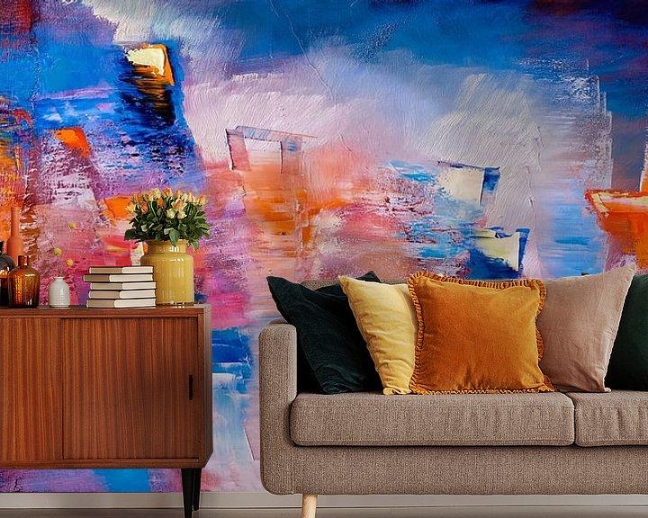 Beispiel fototapete: Hier und jetzt - leuchtende Farben und Formen von Annette Schmucker