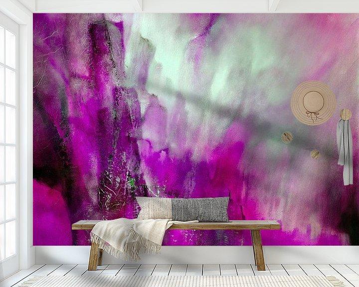 Sfeerimpressie behang: Roze licht van Annette Schmucker