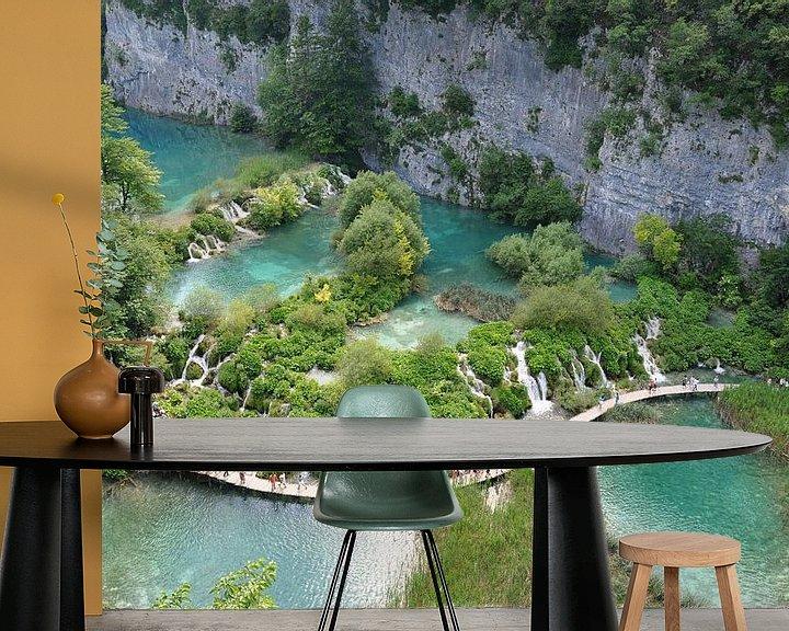 Sfeerimpressie behang: Plitvice meren Kroatië van Peter Mooij
