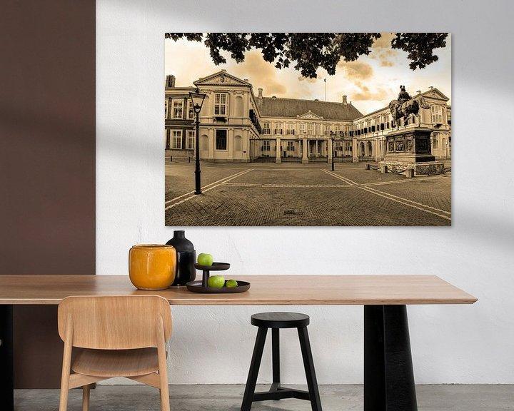 Beispiel: Palast Noordeinde Den Haag Niederlande Sepia von Hendrik-Jan Kornelis