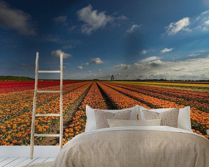 Sfeerimpressie behang: kleurige velden van peterheinspictures
