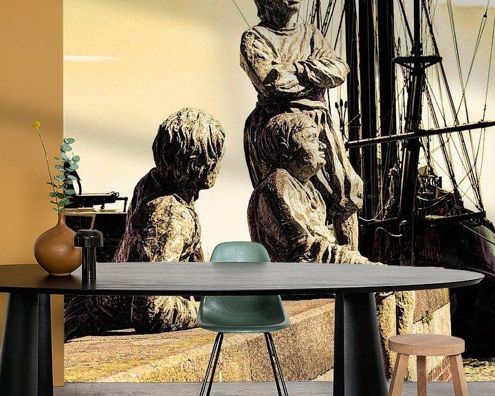 Sfeerimpressie behang: Hoorn Noord-Holland Nederland Jongens van Kapitein Bontekoe van Hendrik-Jan Kornelis