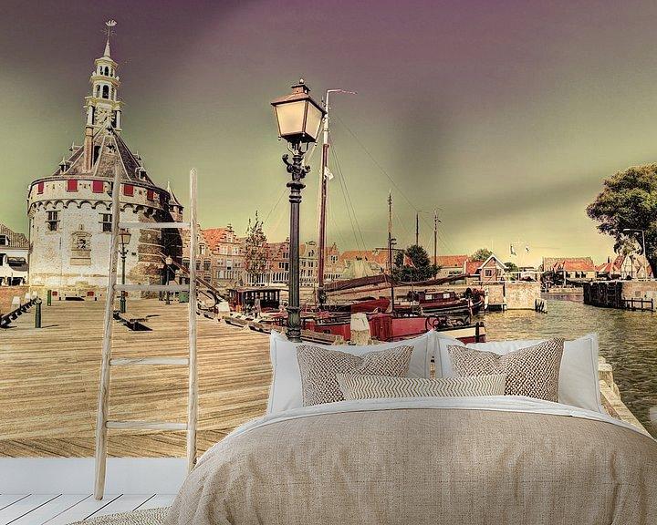 Sfeerimpressie behang: Hoorn Noord-Holland Nederland Haven van Hendrik-Jan Kornelis