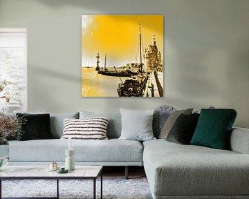Hoorn Haven Noord-Holland Nederland Goud van Hendrik-Jan Kornelis