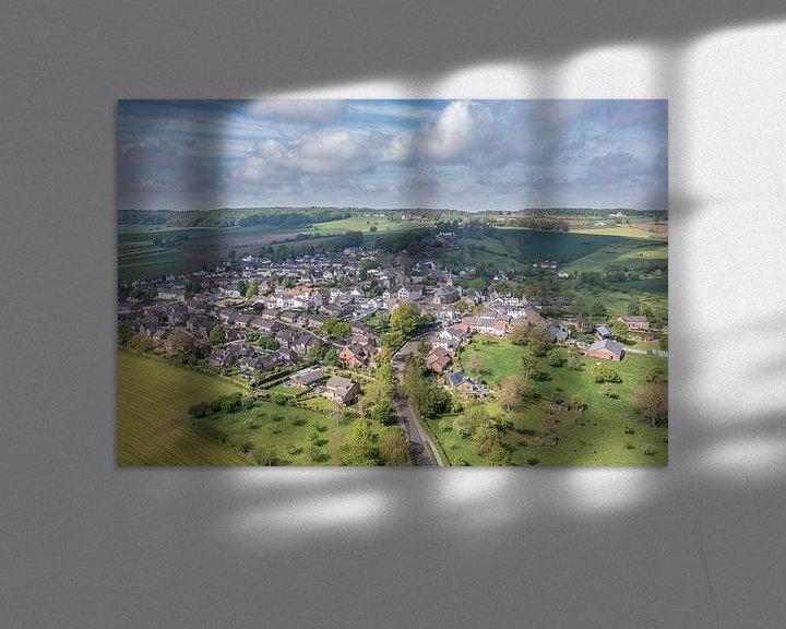 Impression: Vue aérienne de la paroisse d'Epen dans le sud du Limbourg sur John Kreukniet