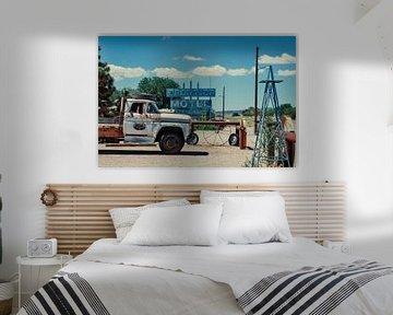 Route 66, vintage en urban Verenigde Staten. van Ron van der Stappen