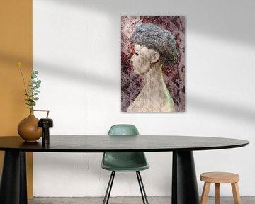 Junge Frau mit Perücke von Marijke de Leeuw - Gabriëlse