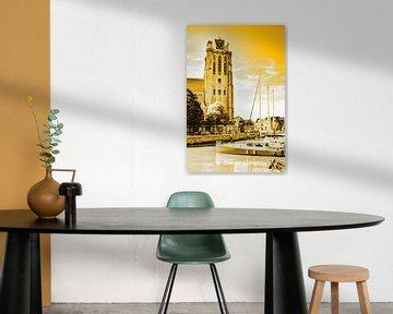 Onze-Lieve-Vrouwekerk Dordrecht Niederlande Gold von Hendrik-Jan Kornelis
