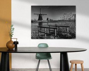Der Steg in Schwarz und Weiß von Jan Enthoven Fotografie