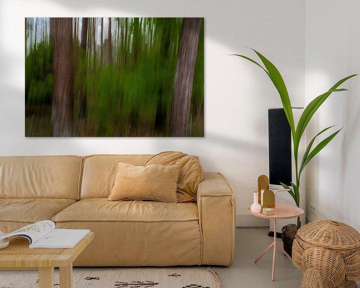Sfeerimpressie: Lijnen in het bos door digitale kunst van JM de Jong-Jansen