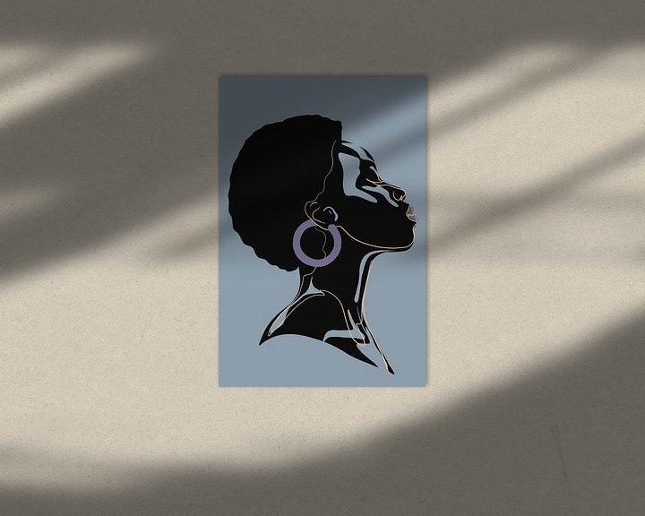 Impression: She - Purple Earring sur Marja van den Hurk