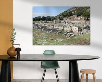 Gezicht op de Agora - Filippi / Φίλιπποι (Daton) - Griekenland van ADLER & Co / Caj Kessler
