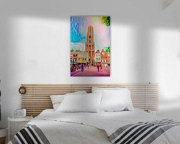 Pop Art Schilderij Utrecht Domtoren van Slimme Kunst.nl