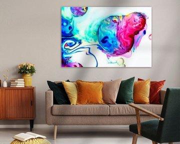 Abstract kleurrijk van Jeannine Van den Boer