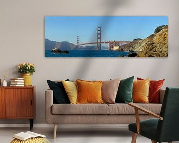 Golden Gate Bridge & Baker Beach van Melanie Viola