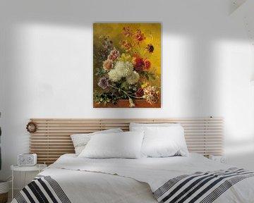 Stilleven Bloemen van Rudy & Gisela Schlechter