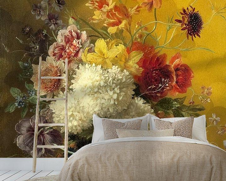 Sfeerimpressie behang: Stilleven Bloemen van Rudy en Gisela Schlechter