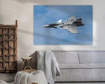 Flyby van een Saab Gripen van de  Tsjechische Luchtmacht. van Jaap van den Berg