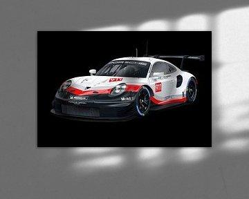 Porsche 911 RSR Sportwagen von Gert Hilbink