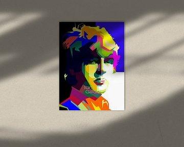 Ian Gillan Pop Art WPAP von Fariza Abdurrazaq