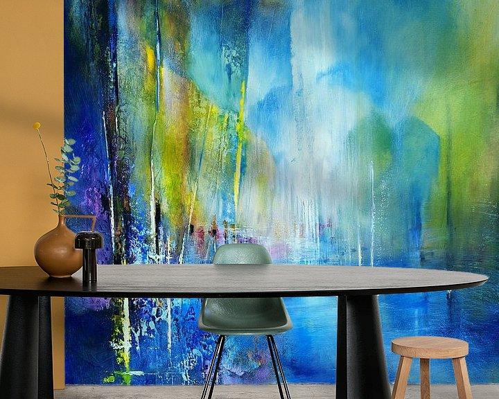 Beispiel fototapete: Im Hafen - blau von Annette Schmucker