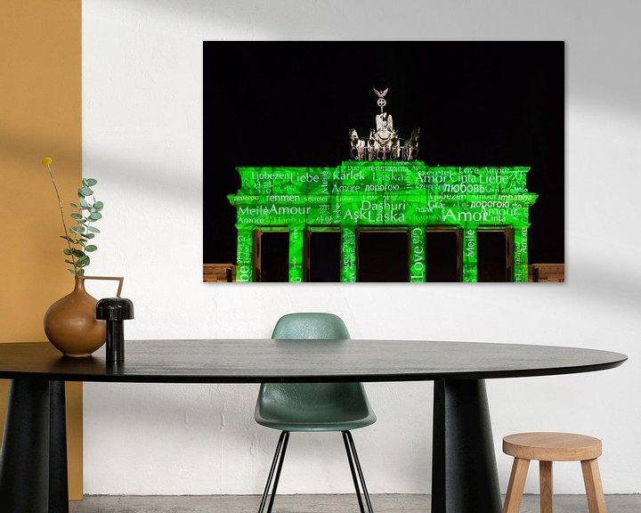 Impression: La Porte de Brandebourg de Berlin sous un éclairage particulier sur Frank Herrmann