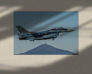 Start einer F-16 ähnlichen Mitsubishi F-2 der JASDF (Japan Air Self-Defense Force). von Jaap van den Berg
