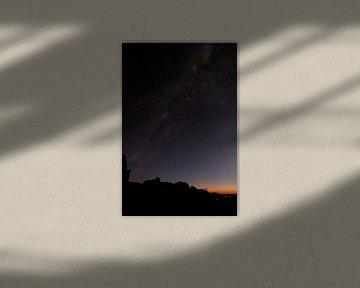 Die Milchstraße bei Sonnenuntergang sichtbar von Jeroen de Weerd