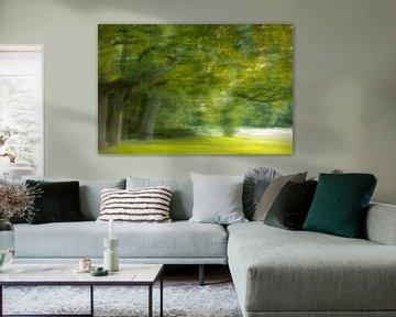 Malerische impresionistische Bäume von Olaf Oudendijk