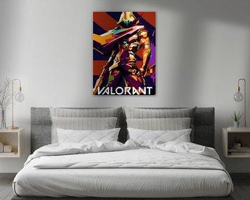 Schwarz-Weiss Valorant von miru arts