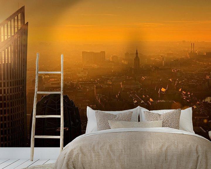 Sfeerimpressie behang: Den Haag van bovenaf van gaps photography