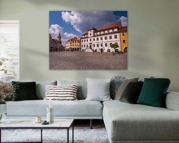 Marktplatz mit Rathaus in Hoyerswerda in Sachsen von Animaflora PicsStock