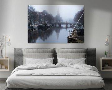 Amsterdam früh morgens von Inge van den Brande