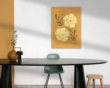 Silhouette Blumen Braun von Rene Hamann
