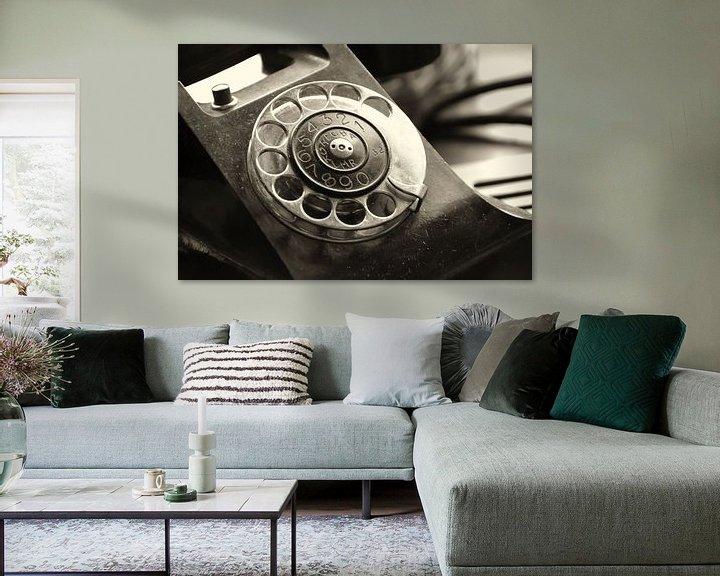 Beispiel: altes analoges Telefon mit Wählscheibe von Heiko Kueverling